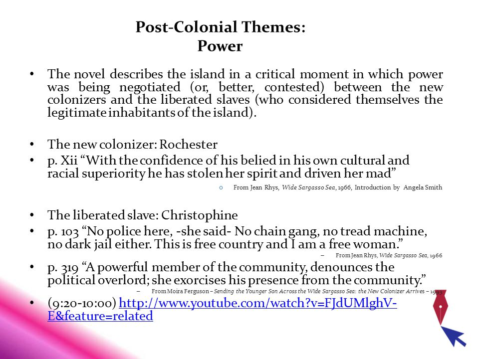 Post-Colonial Themes: Power