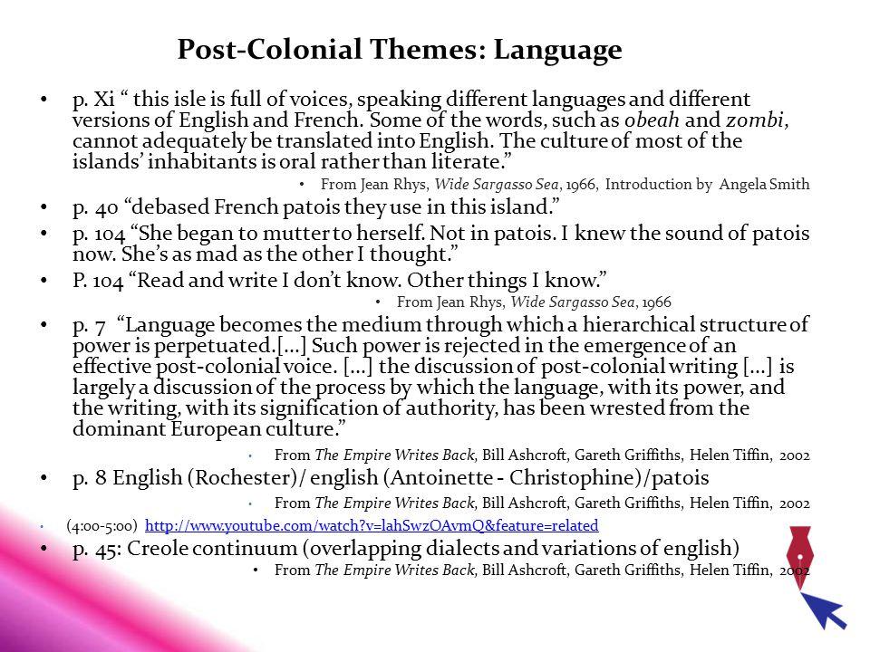 Post-Colonial Themes: Language