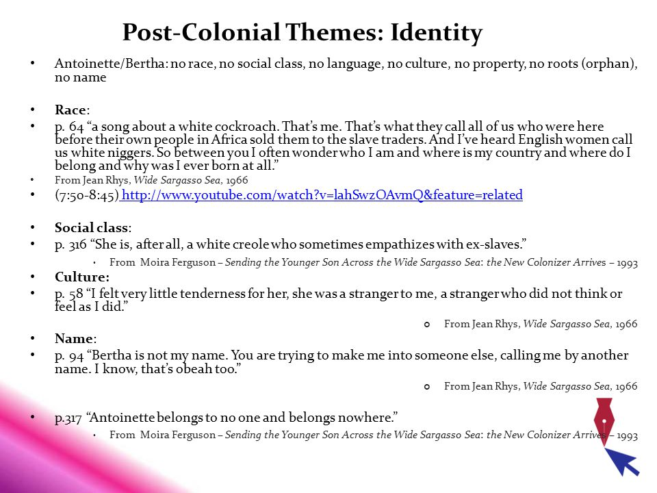 Post-Colonial Themes: Identity