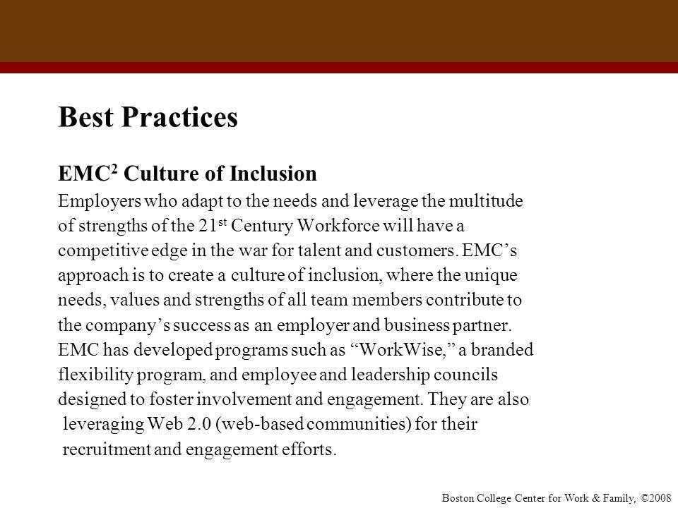 Best Practices EMC2 Culture of Inclusion