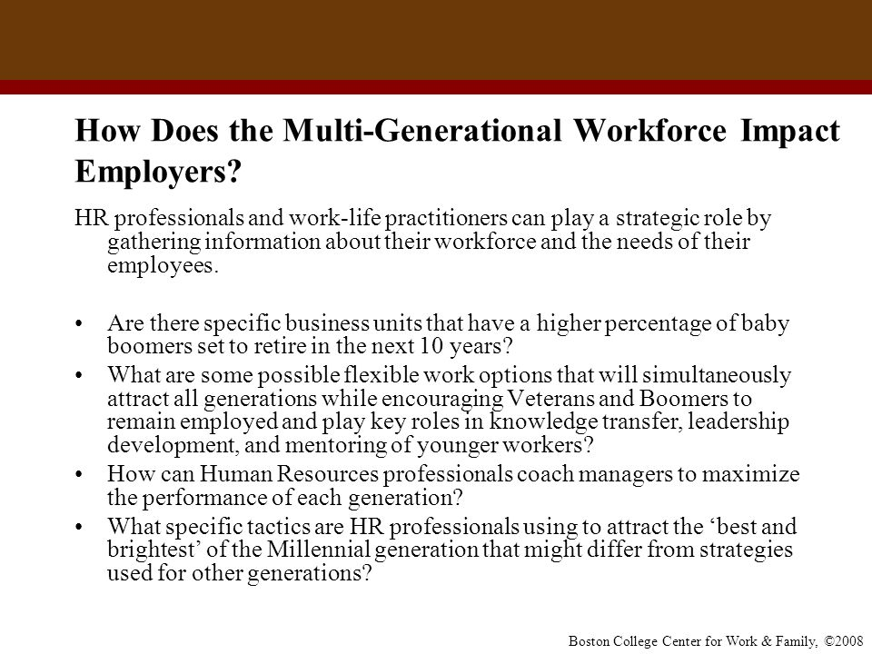 How Does the Multi-Generational Workforce Impact Employers