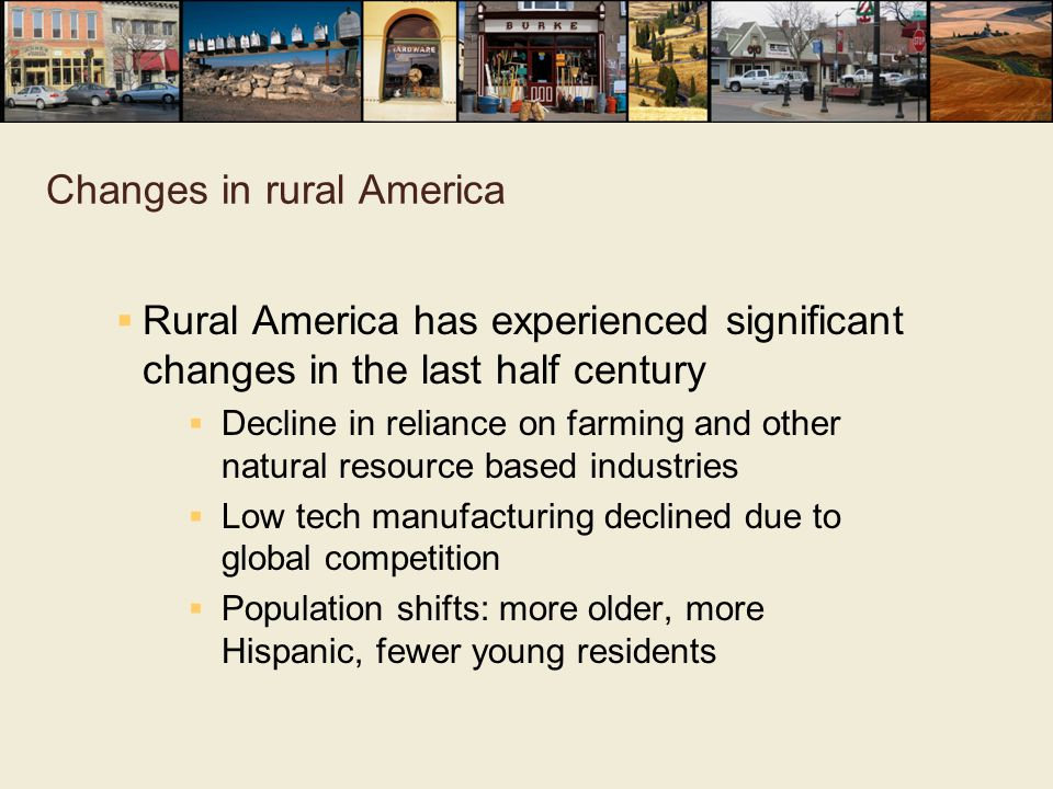 Changes in rural America