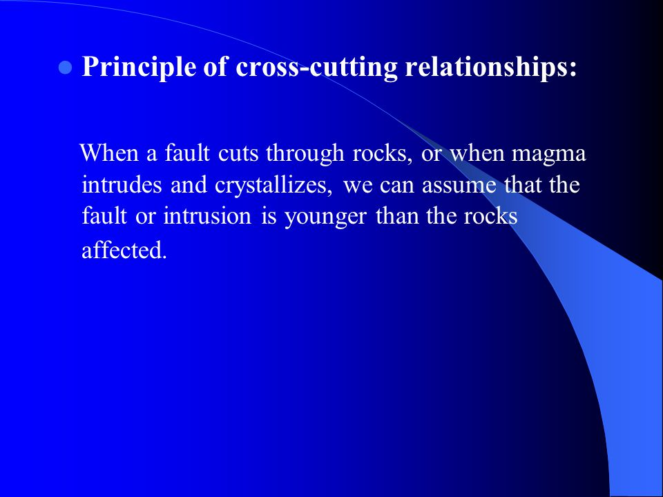 Principle of cross-cutting relationships: