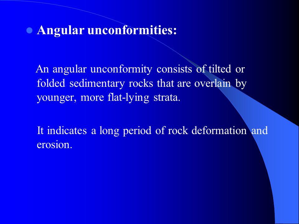 Angular unconformities: