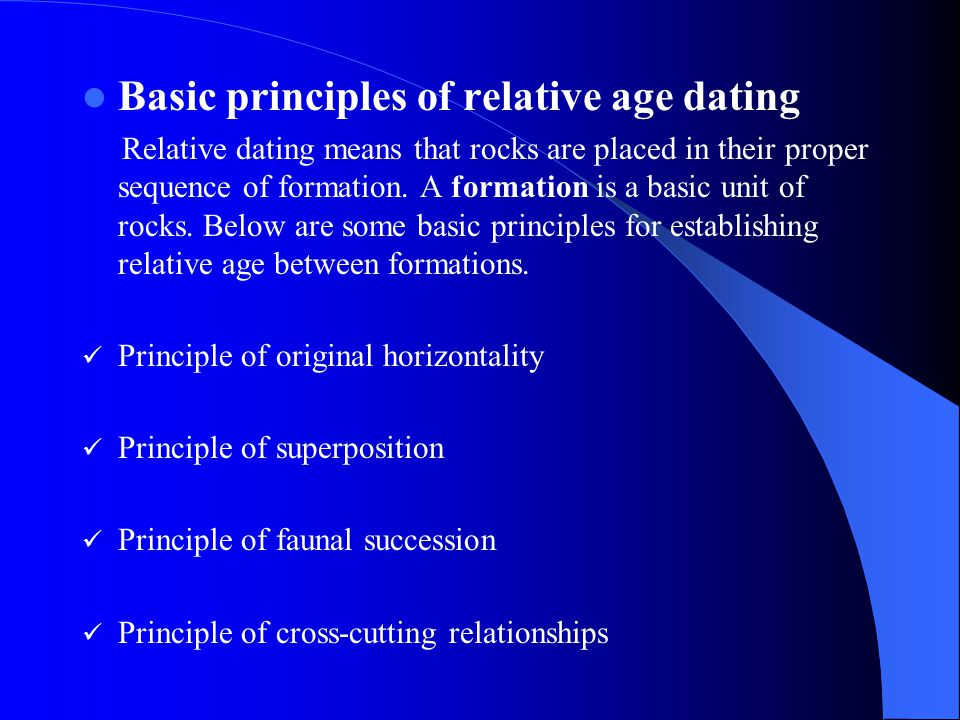 Basic principles of relative age dating