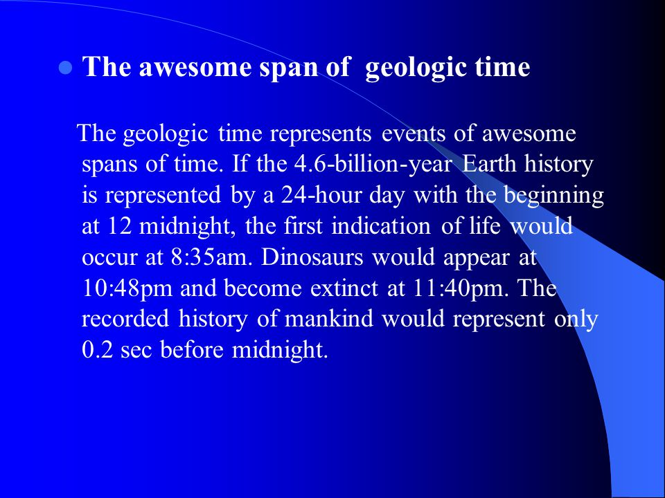 The awesome span of geologic time