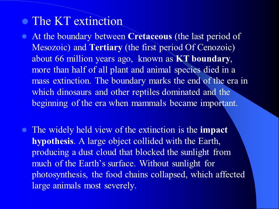 The KT extinction