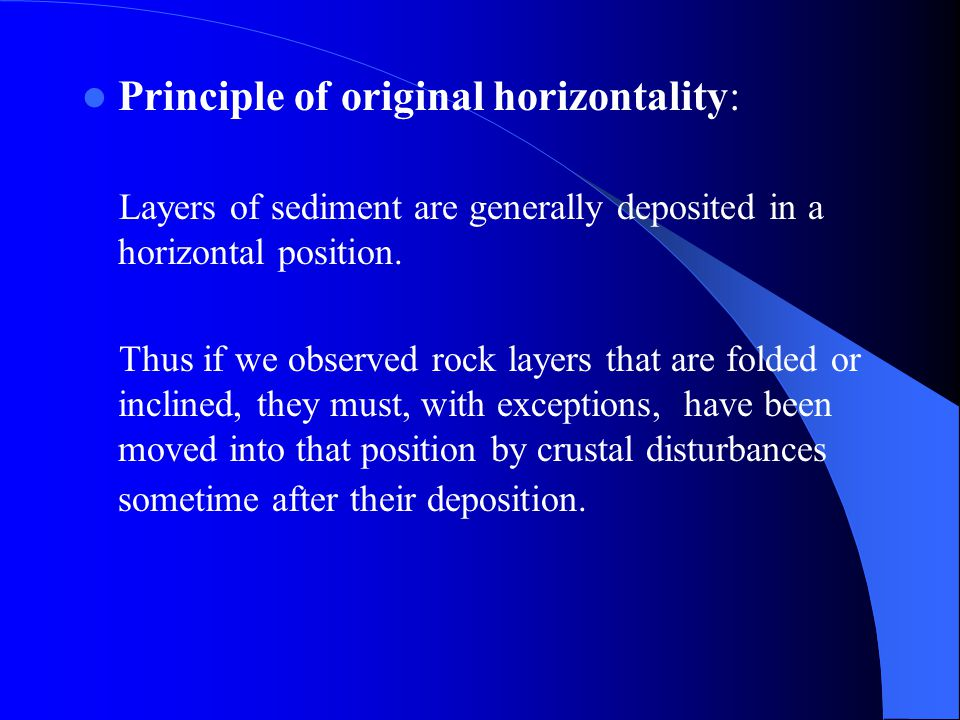 Principle of original horizontality: