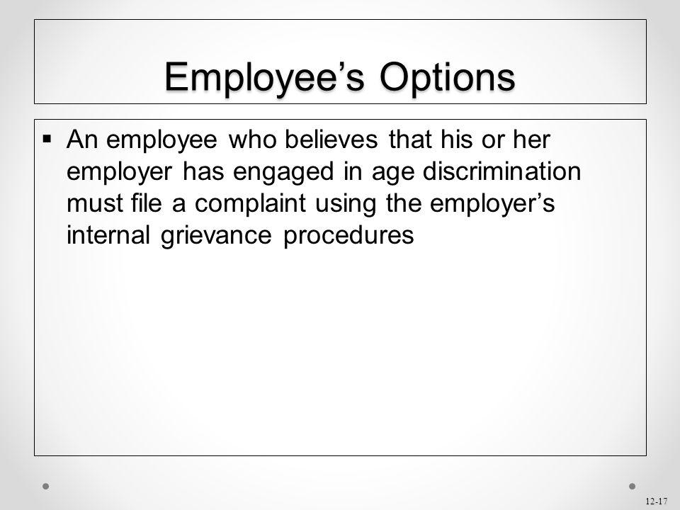 Employee's Options