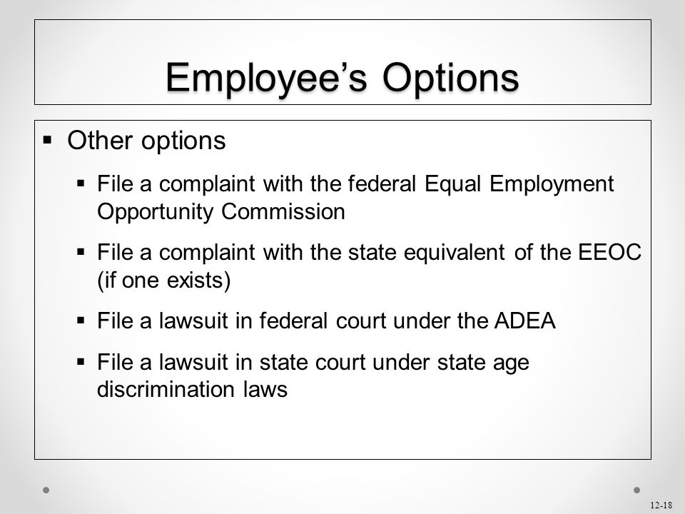 Employee's Options Other options