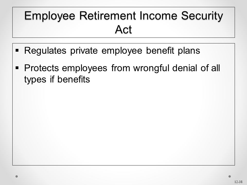 Employee Retirement Income Security Act