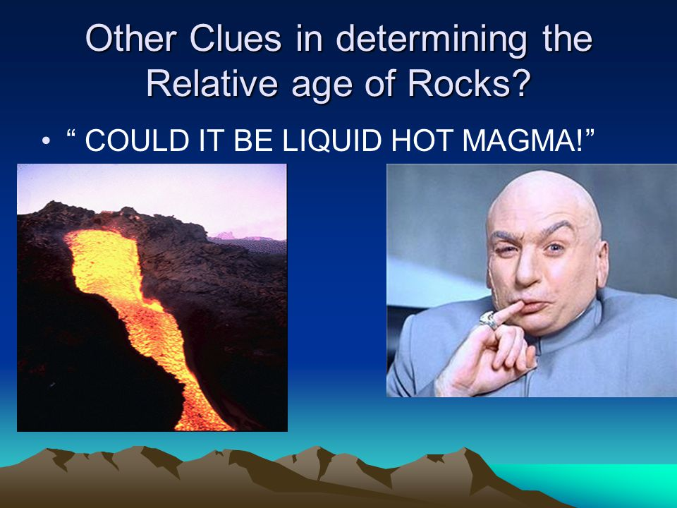 Other Clues in determining the Relative age of Rocks
