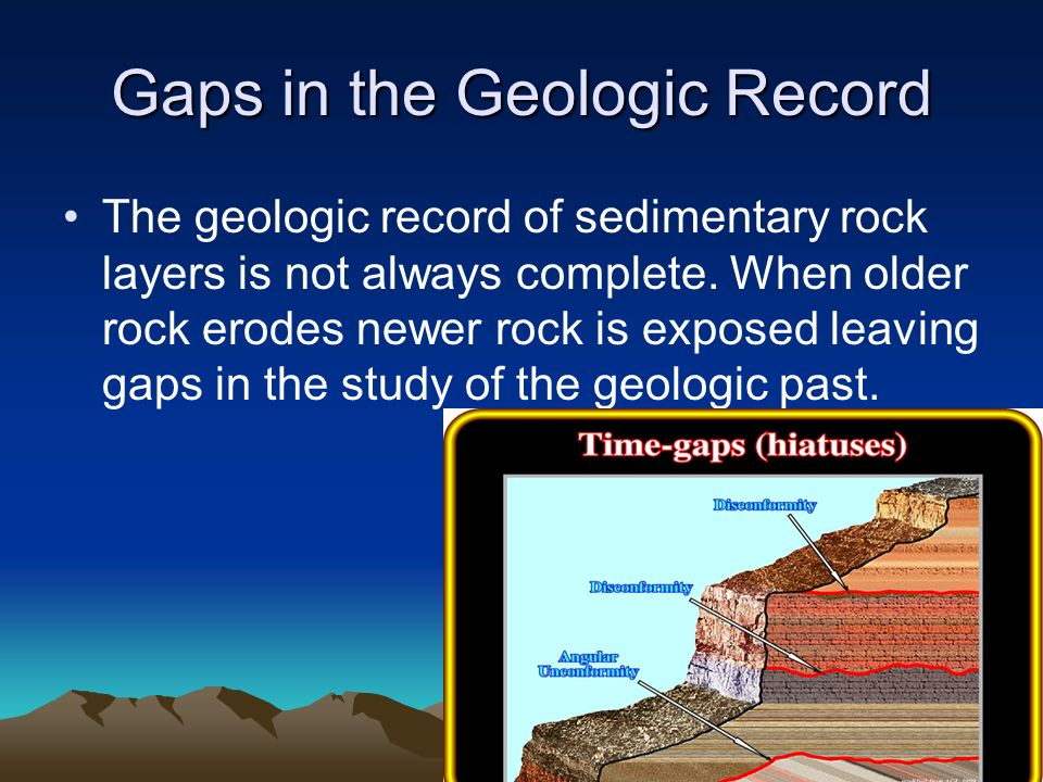 Gaps in the Geologic Record