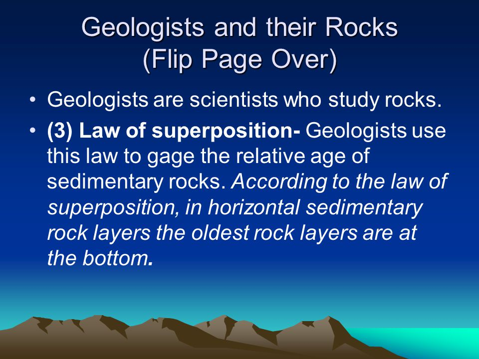 Geologists and their Rocks (Flip Page Over)