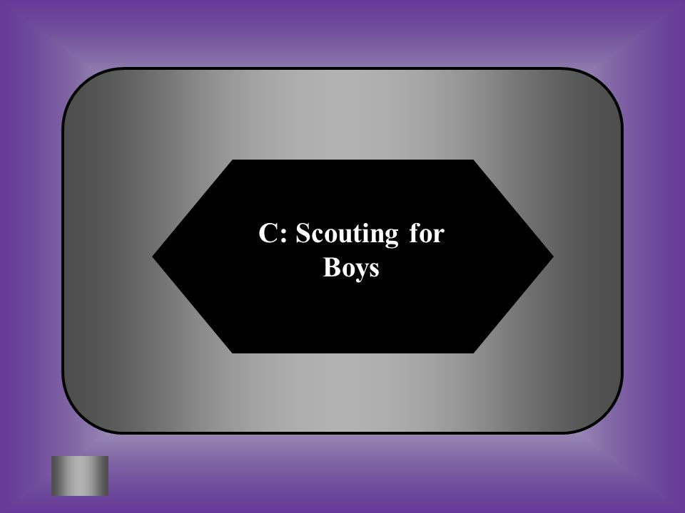C: Scouting for Boys