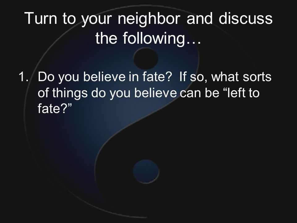 Turn to your neighbor and discuss the following…