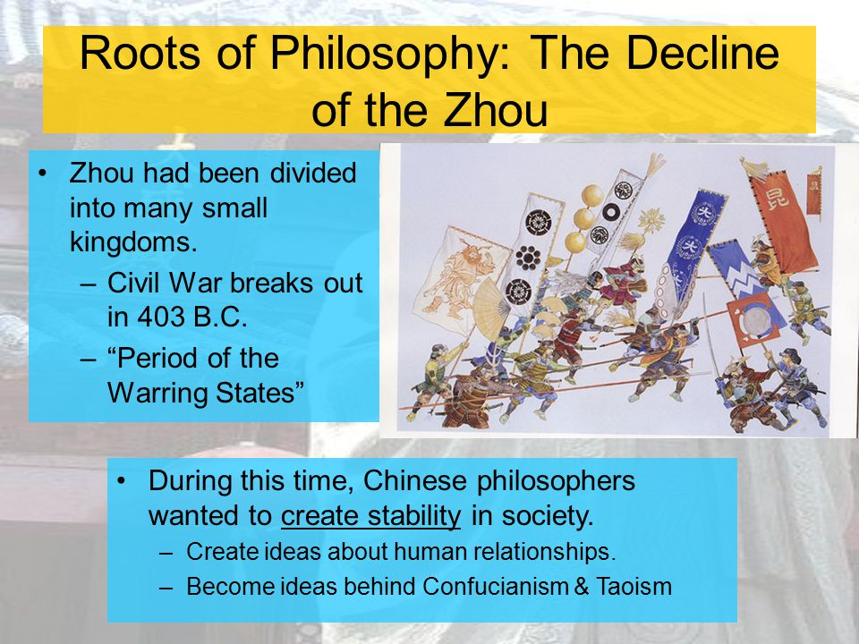 Roots of Philosophy: The Decline of the Zhou
