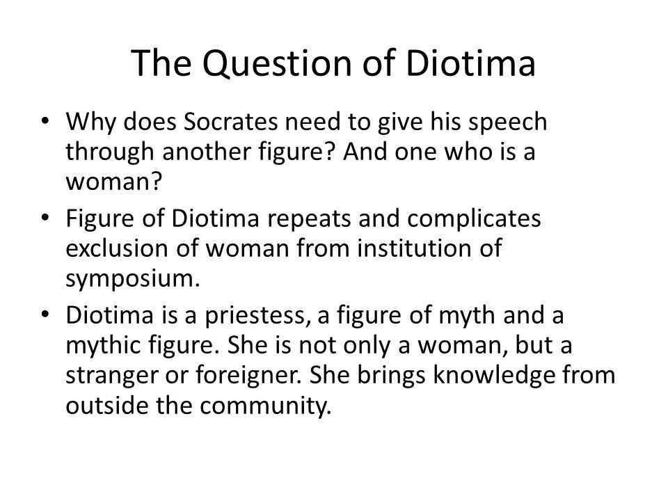 The Question of Diotima