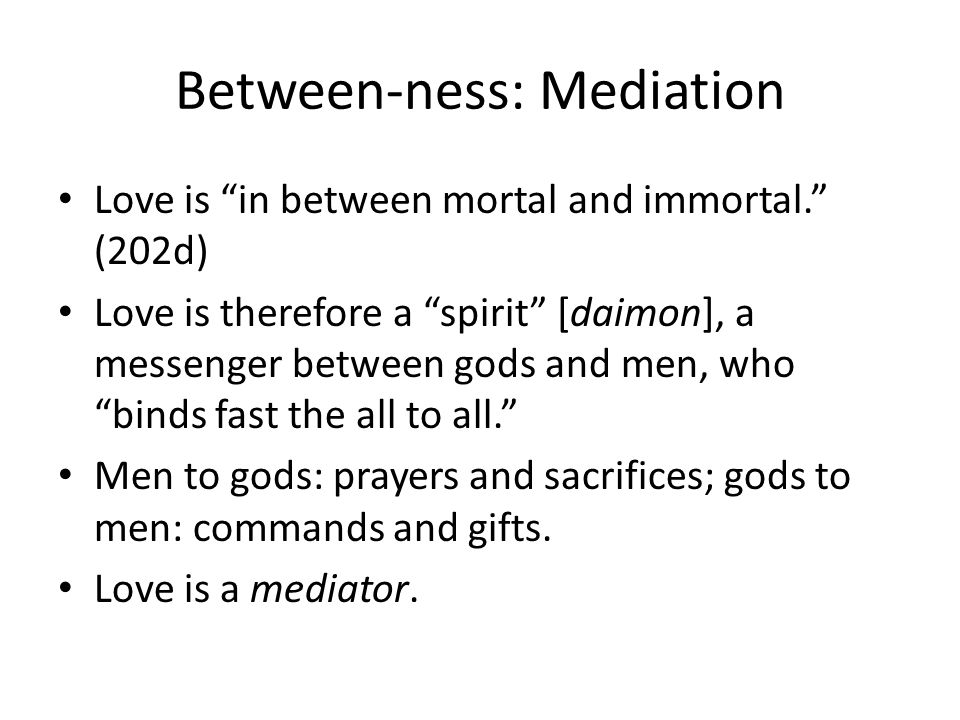 Between-ness: Mediation