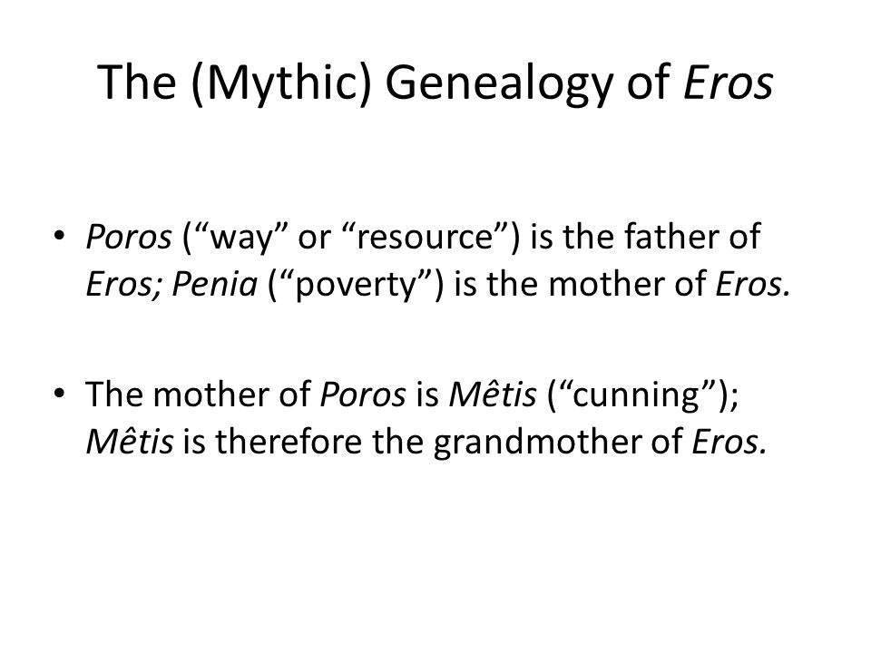 The (Mythic) Genealogy of Eros