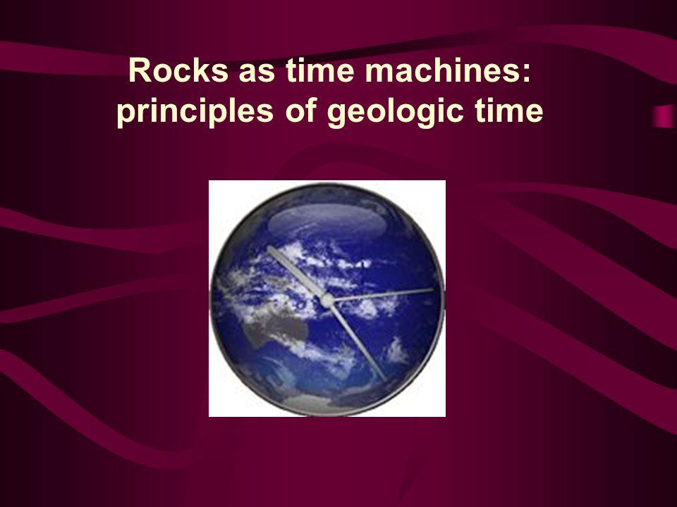 Rocks as time machines: principles of geologic time