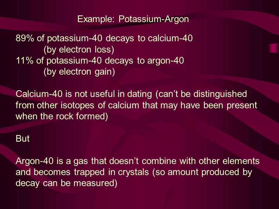 Example: Potassium-Argon