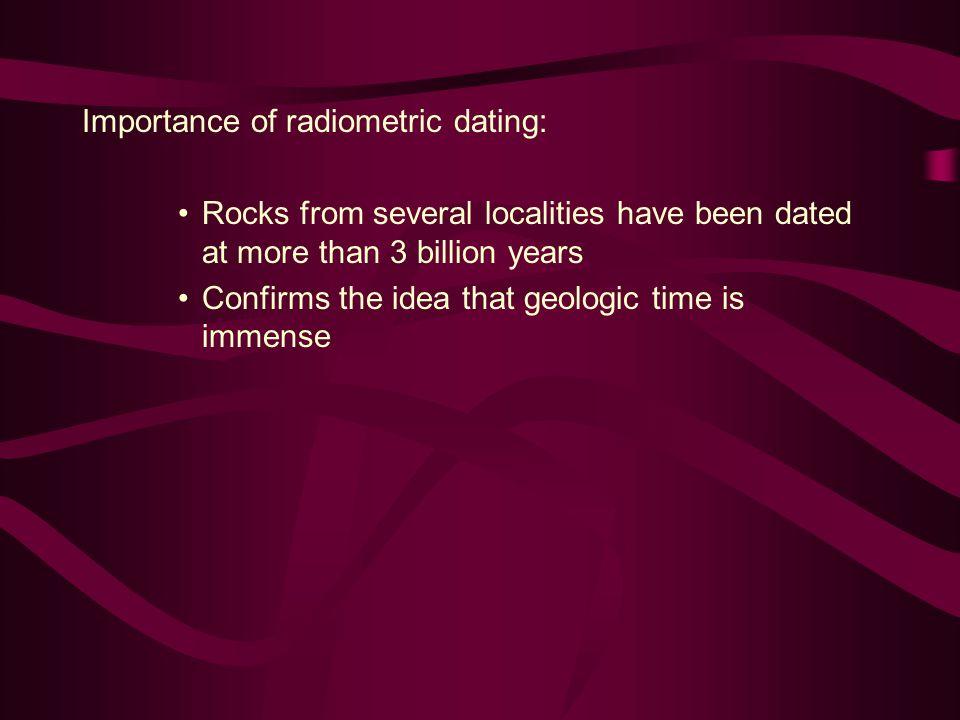 Importance of radiometric dating: