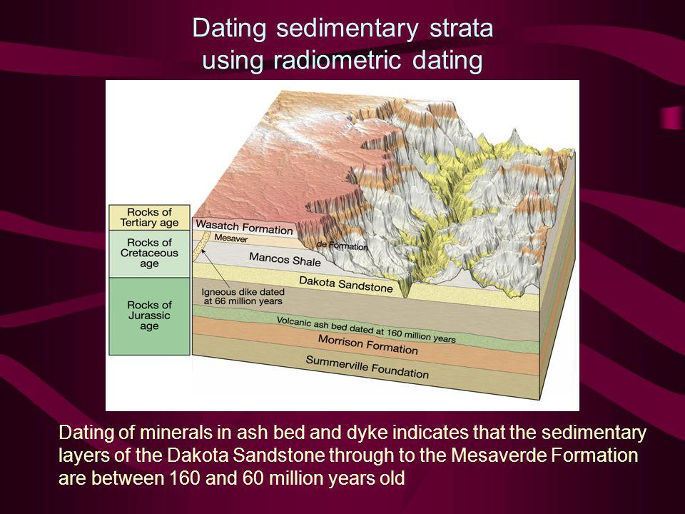 Dating sedimentary strata using radiometric dating