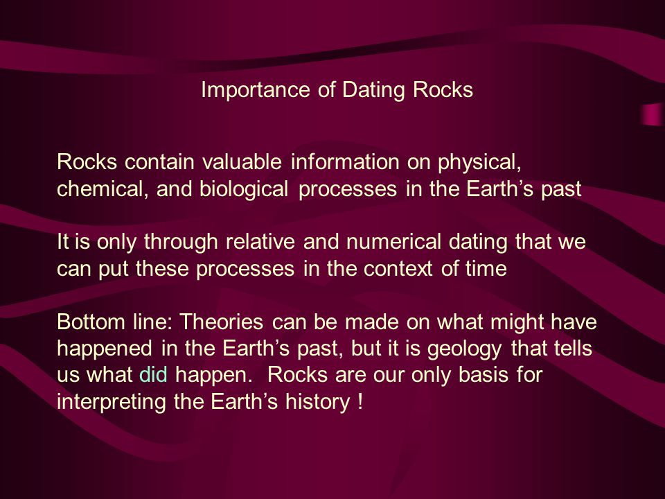Importance of Dating Rocks