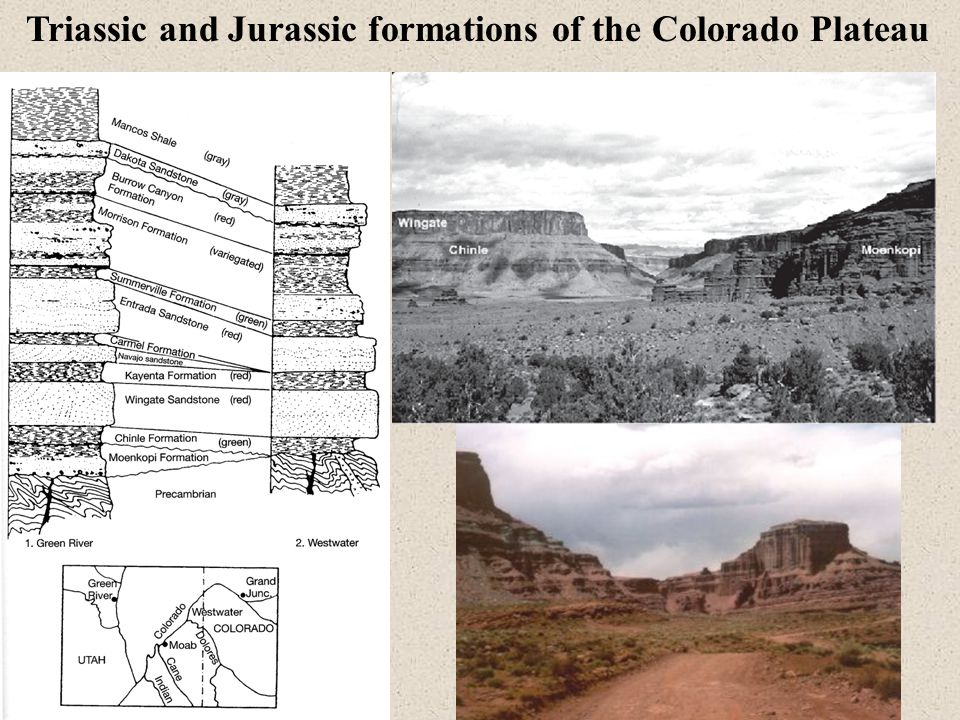 Triassic and Jurassic formations of the Colorado Plateau