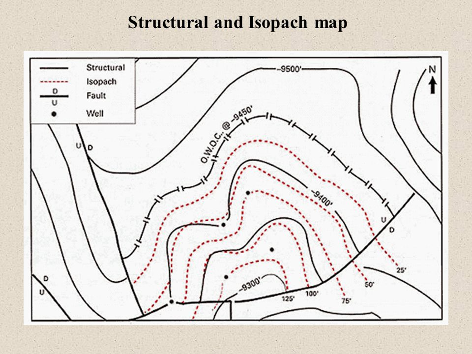 Structural and Isopach map