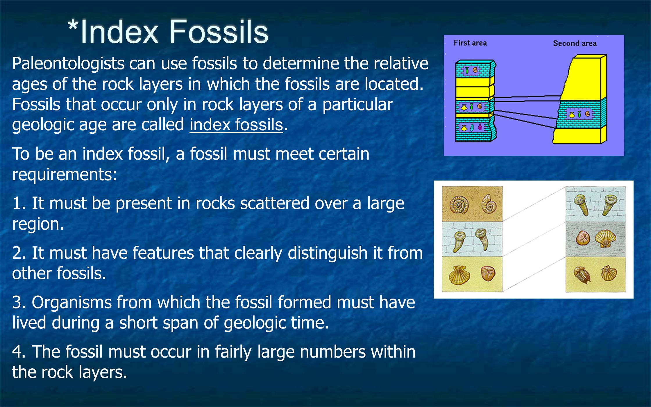 Analogy of methods for dating rock and fossils used by paleontologists