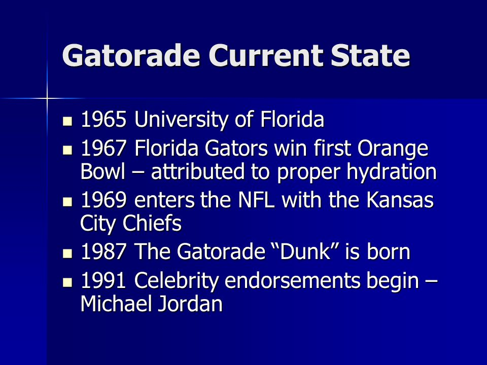 Gatorade Current State