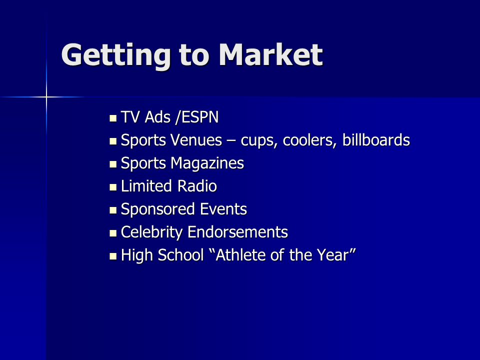 Getting to Market TV Ads /ESPN