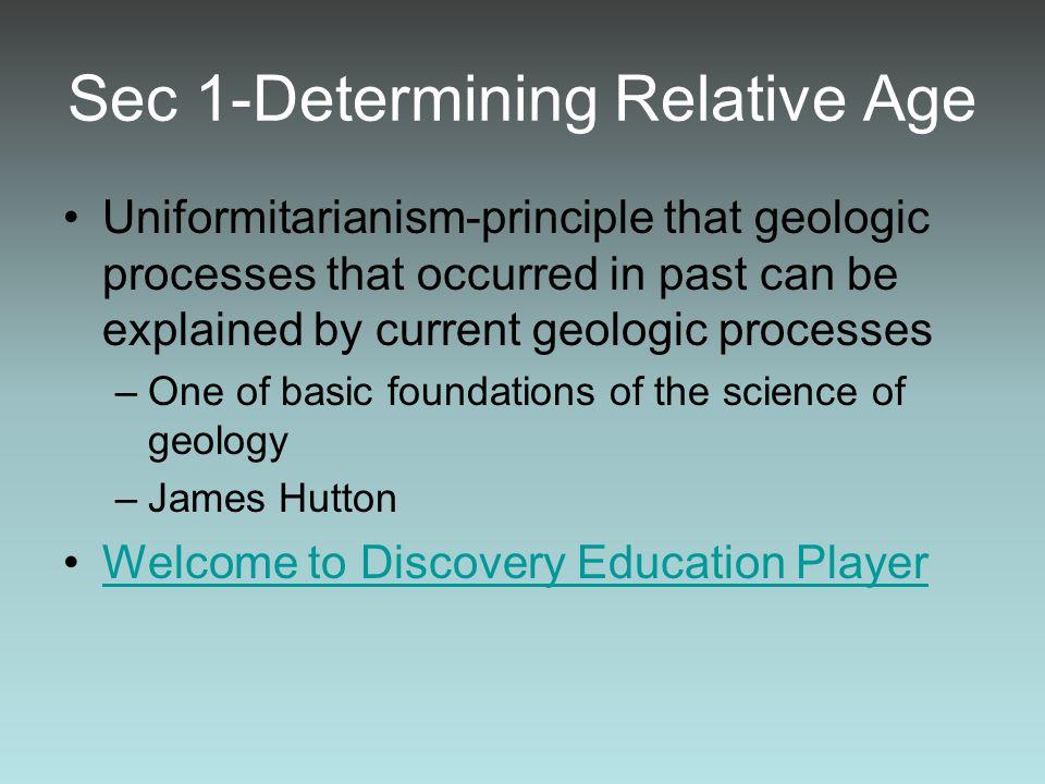 Sec 1-Determining Relative Age