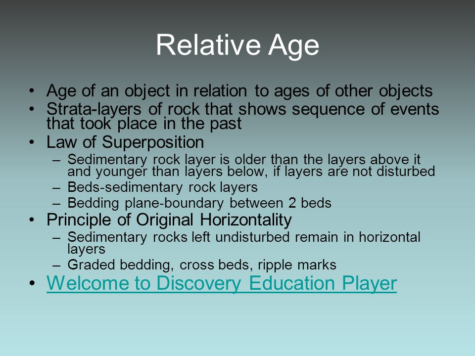 Relative Age Welcome to Discovery Education Player