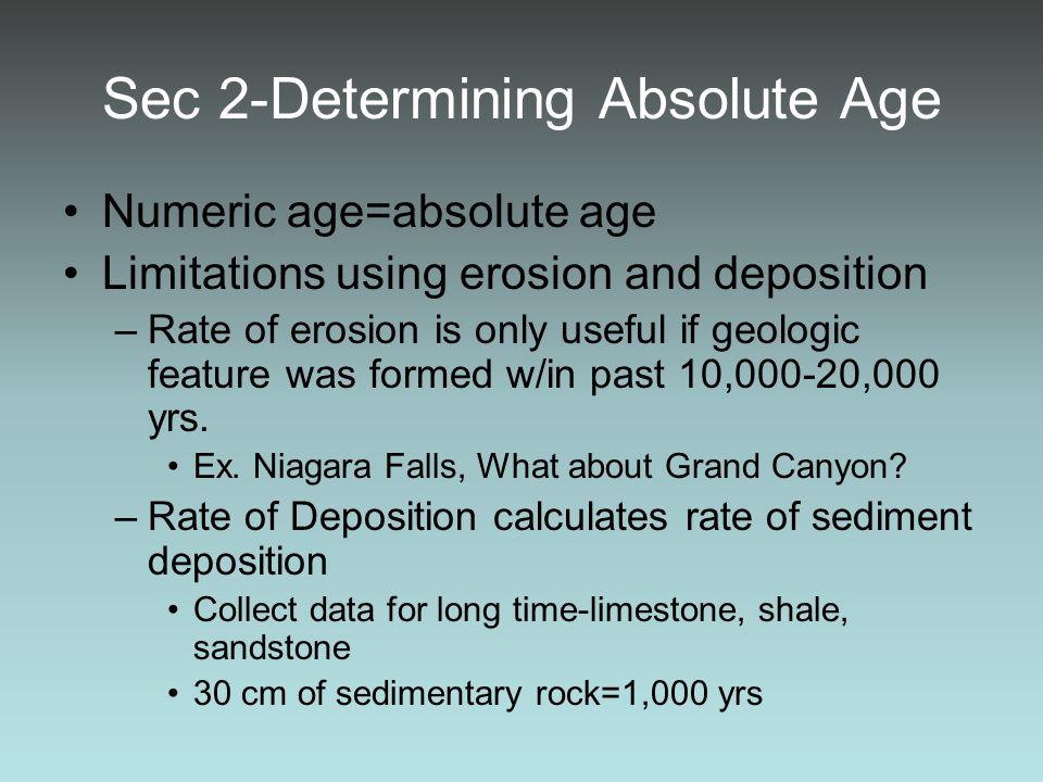 Sec 2-Determining Absolute Age
