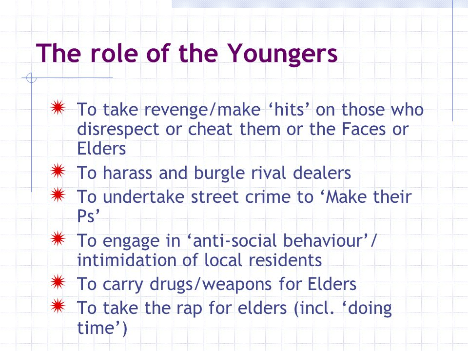 The role of the Youngers