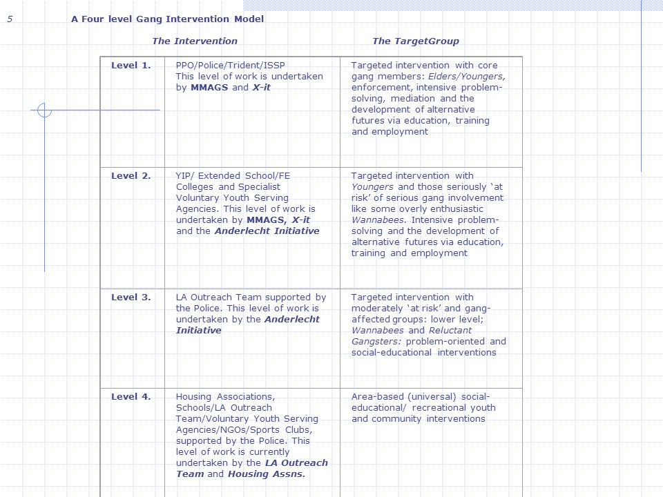 5 A Four level Gang Intervention Model