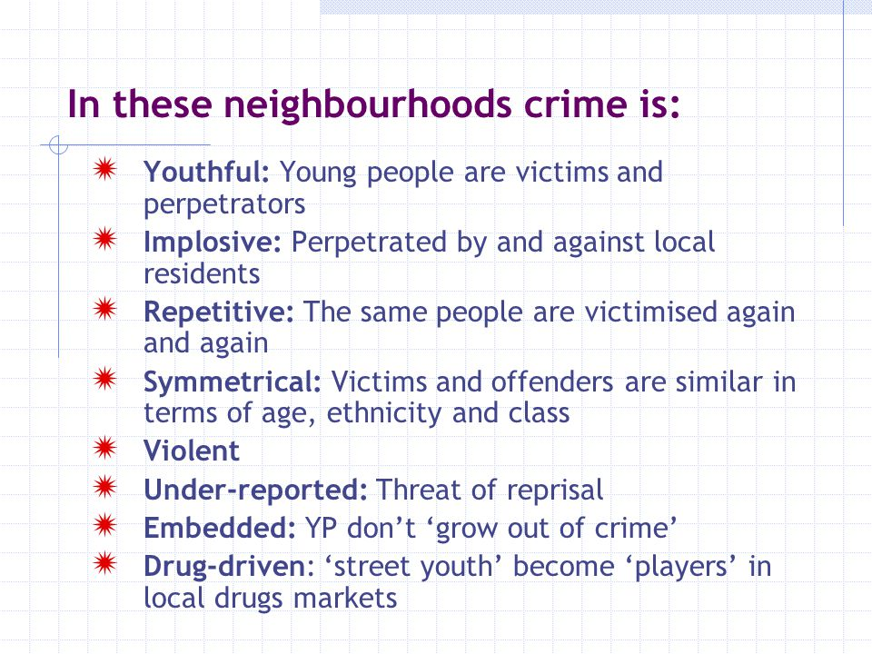 In these neighbourhoods crime is: