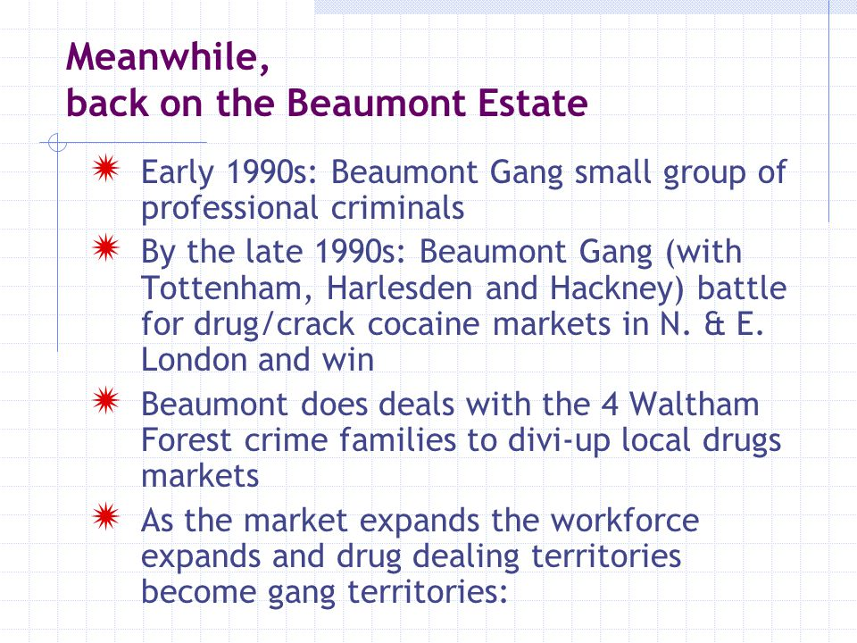 Meanwhile, back on the Beaumont Estate