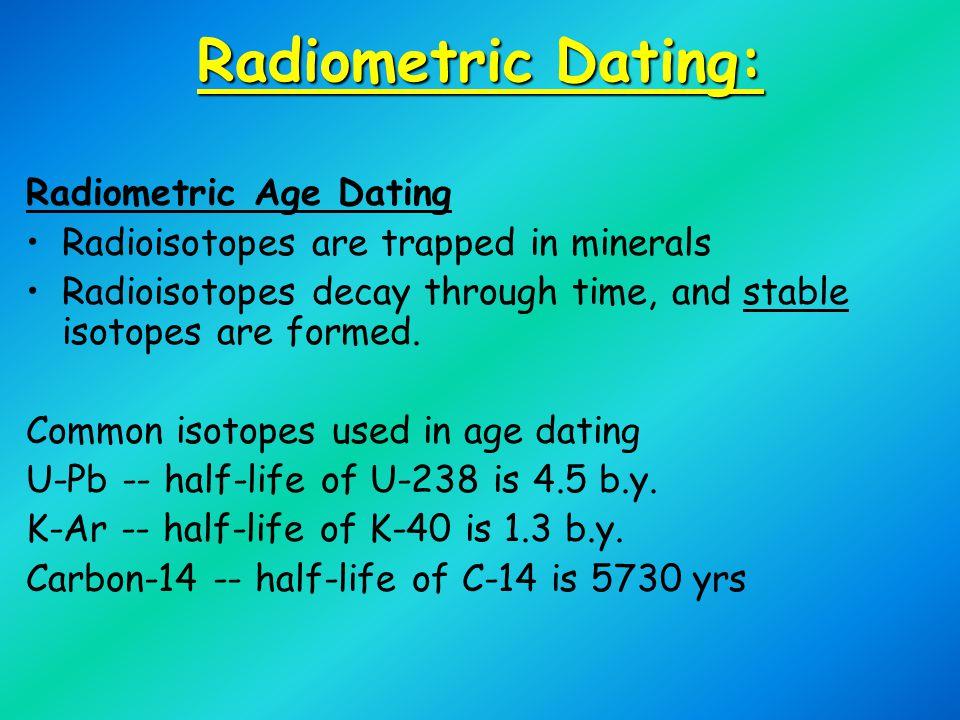 Radiometric Dating: Radiometric Age Dating