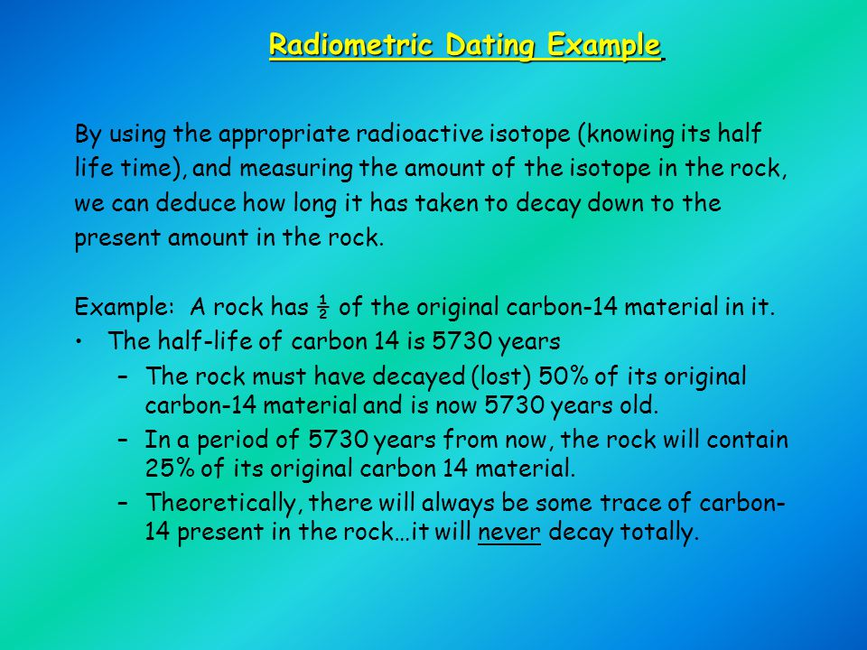 Radiometric Dating Example