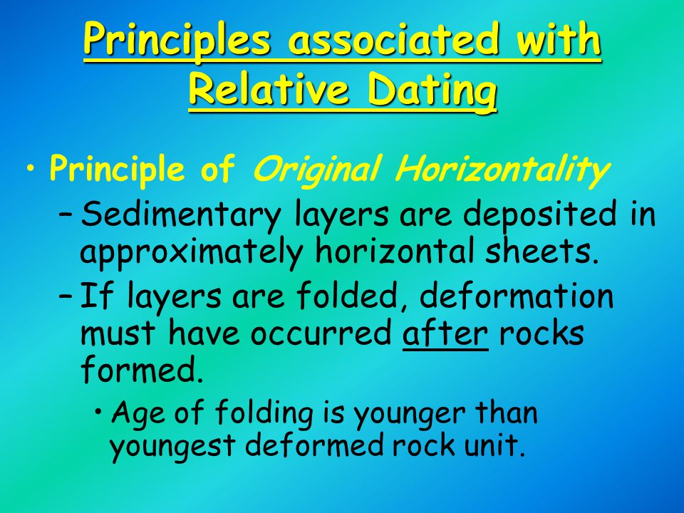 Relate Uniformitarianism To Principles Of Relative Age Dating