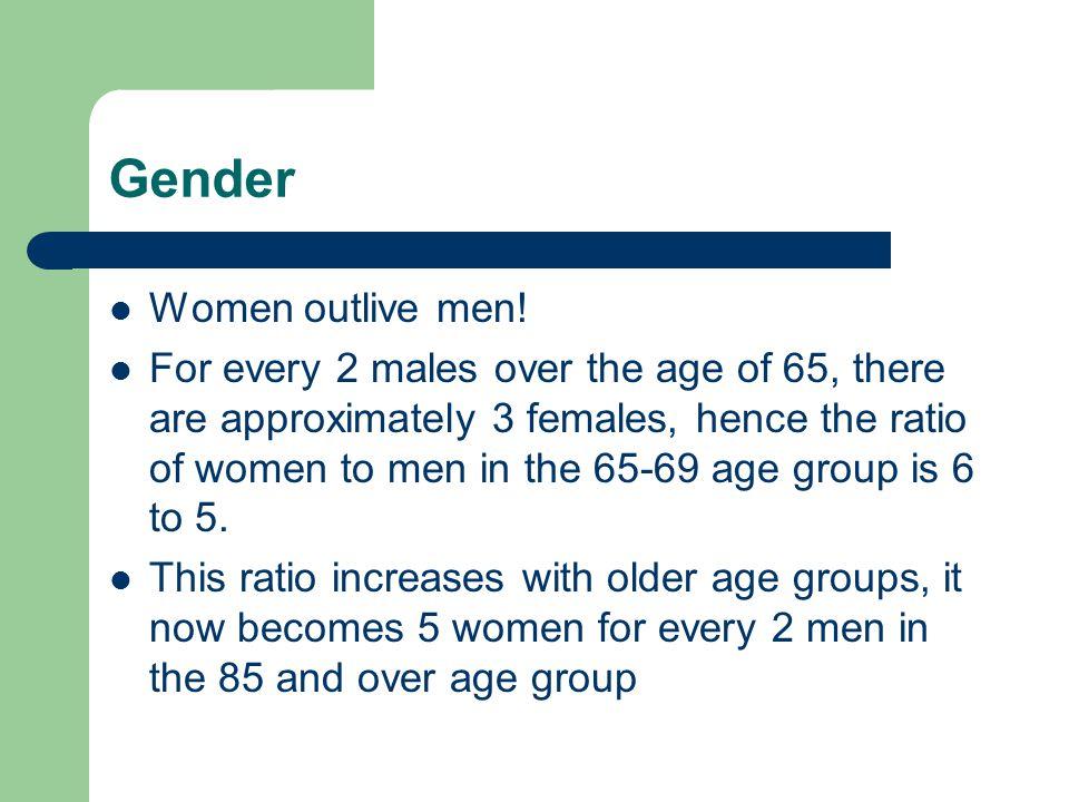 Gender Women outlive men!