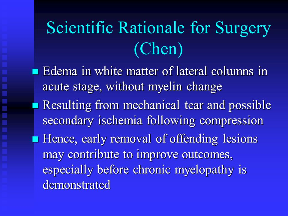 Scientific Rationale for Surgery (Chen)