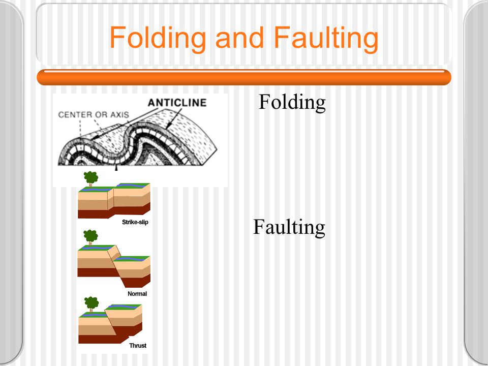 Folding and Faulting Folding Faulting