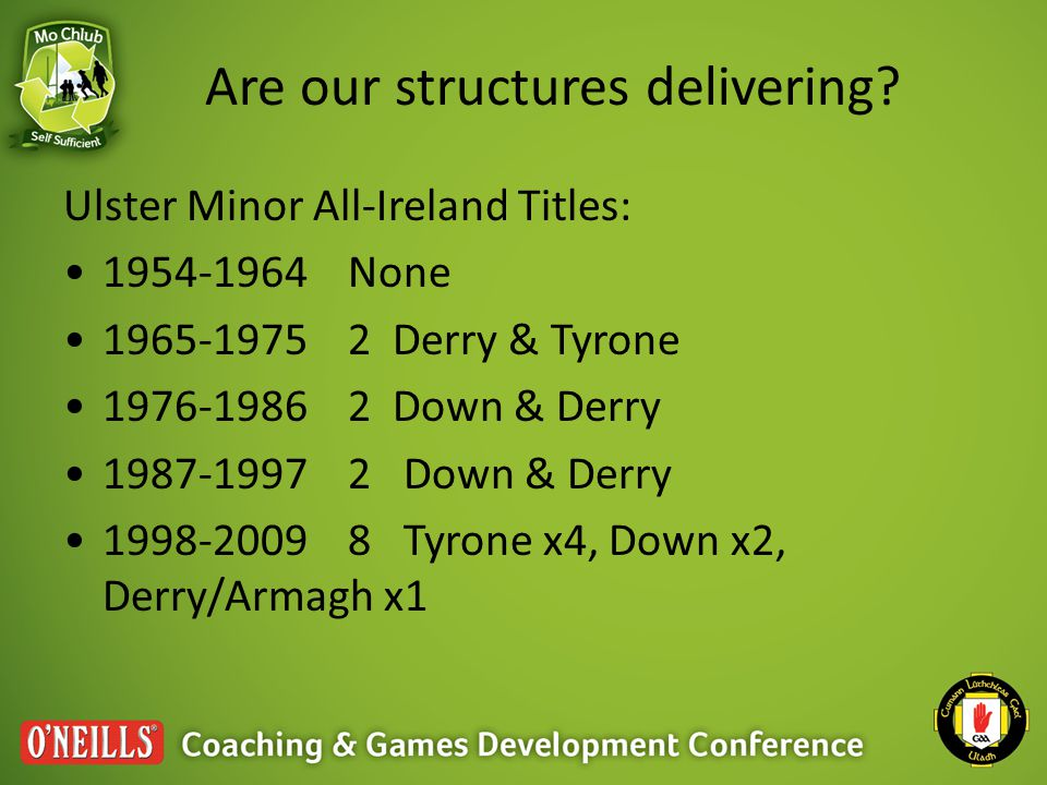 Are our structures delivering