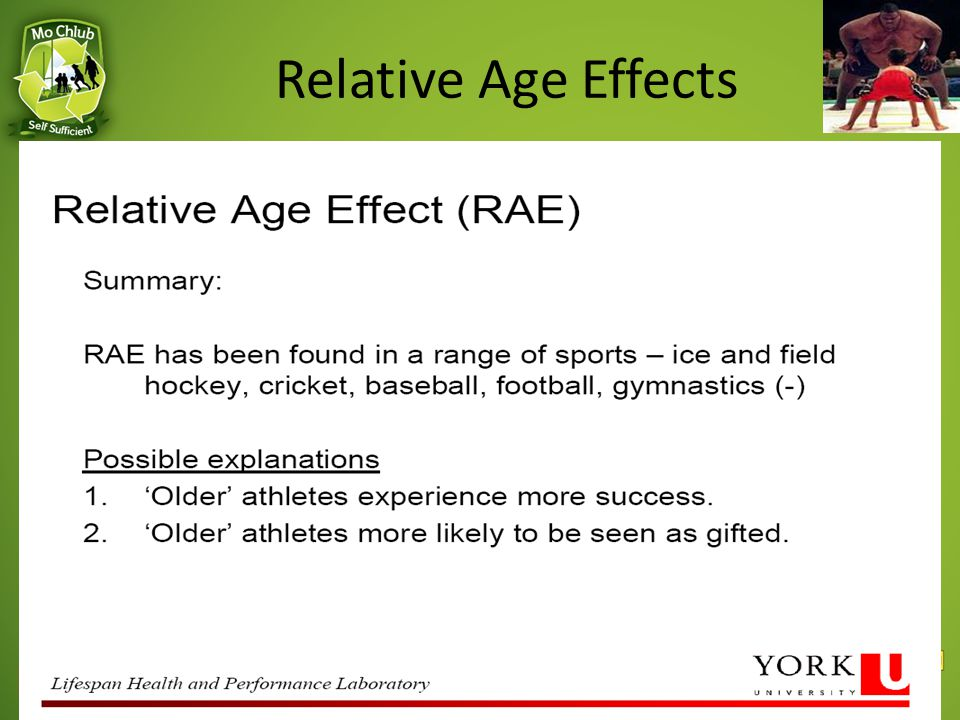 Relative Age Effects