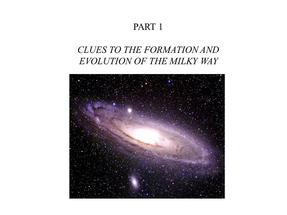 CLUES TO THE FORMATION AND EVOLUTION OF THE MILKY WAY